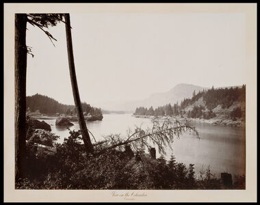 Carleton E. Watkins, 'View on the Columbia, Cascades', 1867