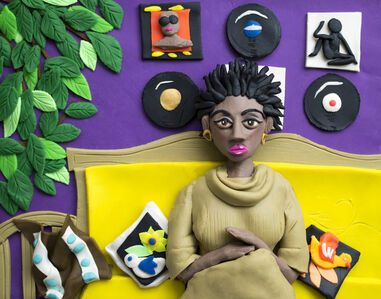 Eleanor Macnair, 'Original photograph: Afro Goddess Ex Lovers friend, 2006 by Mickalene Thomas rendered in Play-Doh ', 2019