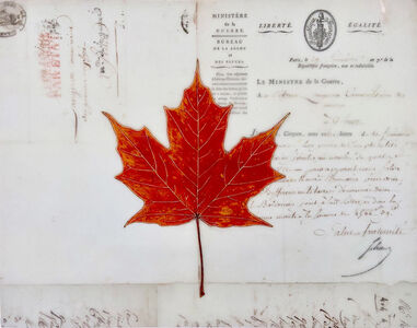 Kenna Moser, 'Red Maple Leaf #1', 2020