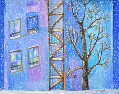 Elizabeth Borisov, 'The View from Window with Blizzard', 2016