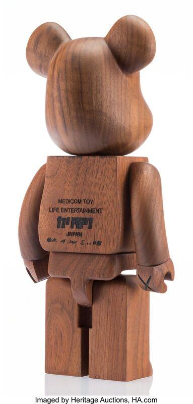 KAWS, 'BWWT 400% Be@rbrick', 2005, Other, Karimoku wood, Heritage Auctions