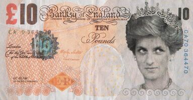 Banksy, 'Di-Faced Tenner, 10GBP Note', 2005