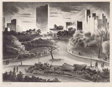 Adolf Arthur Dehn, 'Afternoon In Central Park (Lumsdaine/O'Sullivan 303)', circa 1937
