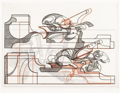 Floriano Bodini, 'Factory with machines and animals - Ottana', 1974