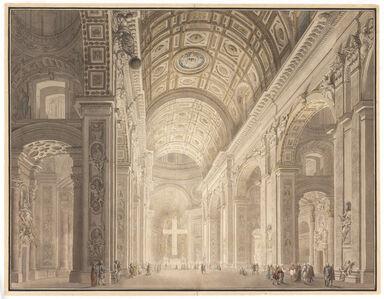 Giovanni Paolo Panini, 'Interior of St. Peter's Illuminated', ca. 1787