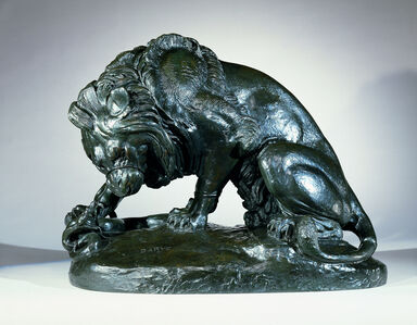 Antoine-Louis Barye, ' Lion and serpent', ca. 1833