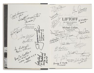 Michael Collins, 'LIFTOFF. THE STORY OF AMERICA'S ADVENTURE IN SPACE.  NEW YORK: GROVE PRESS, 1988'