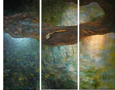 John J. Bedoya, 'Tierra, acrilico, pala, Triptych', 2012-2013