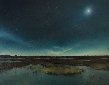 Sean Friloux, 'Moonlight Over Marsh', 2019