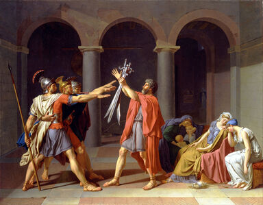 Jacques-Louis David, 'Oath of the Horatii', 1784-1785