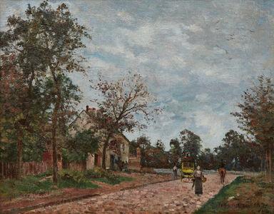 Camille Pissarro, 'Le relais de poste sur la route de Versailles, Louveciennes', 1871