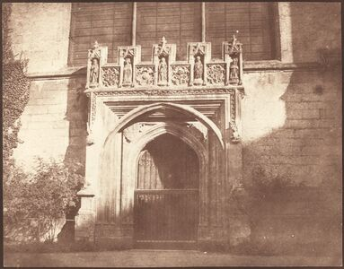 William Henry Fox Talbot, 'An Ancient Door in Magdalen College, Oxford', April 1843