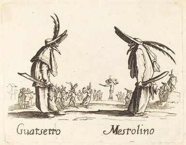 after Jacques Callot, 'Guatsetto and Mestolino'
