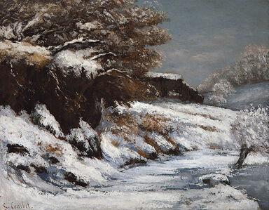 Gustave Courbet, 'Effet de Neige', 1866-1868