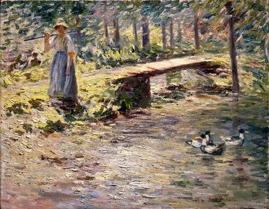 Theodore Robinson, 'By the Brook', 1891
