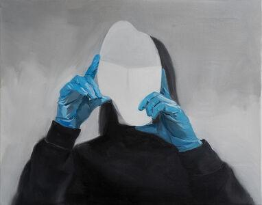 Ruxue Zhang, 'Blue Gloves 2', 2019