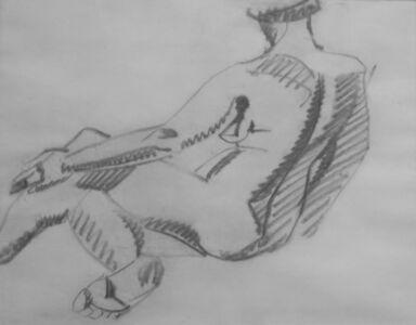 Henri Gaudier-Brzeska, 'Seated Female Nude', 1913