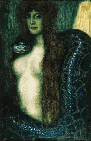 Franz von Stuck, 'Die Sünde (Sin)', ca. 1908