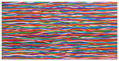 Sol LeWitt, 'Horizontal Wavy Brushstrokes in Color', 2006