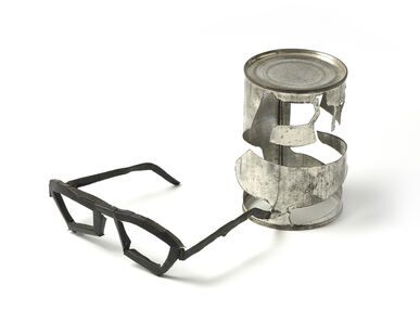 Bill Woodrow, 'Bean Can with Spectacles', 1981