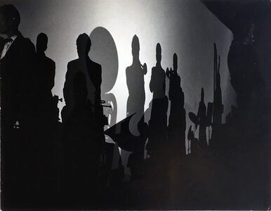 William Claxton, 'Big Band Silhouette-Stan Kenton Band', 1957