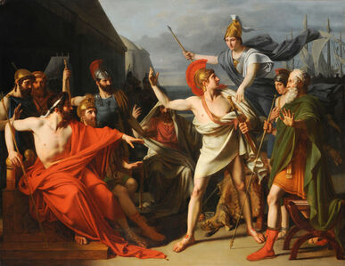 Michel-Martin Drolling, 'The Wrath of Achilles', 1810