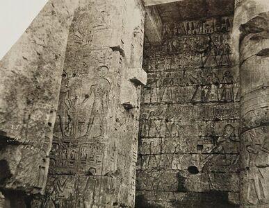 John Beasley Greene, 'Second Courtyard, Medinet Habou, Egypt  (Left Wall, South Side at the Southwest Corner)', 1854