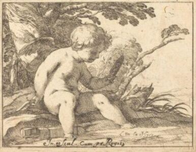 Laurent de La Hyre, 'Cupid Looking in a Mirror'