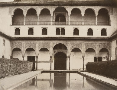 Louis de Clercq, 'View of the Alhambra, Great Courtyard in Front of Ambassador's Hall', 1860/1860