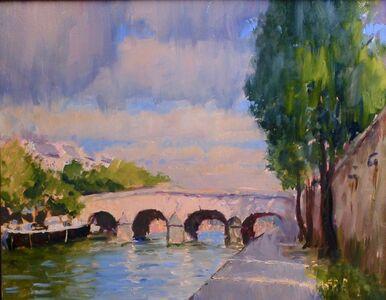 "Gregg Kreutz, '""A Bridge in Paris""', 2019"
