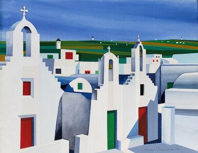 Edmund Lewandowski, 'Mykonos Church Landscape ', 1965