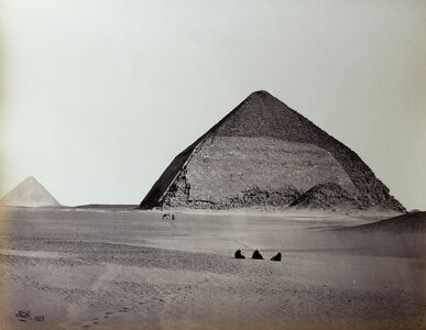 Francis Frith, 'Pyramid at Dahshur from the Southwest. Mammoth Plate.', 1858
