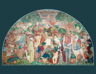 Sir Frank Brangwyn, 'The Printed Word Makes the People of the World One', 1936