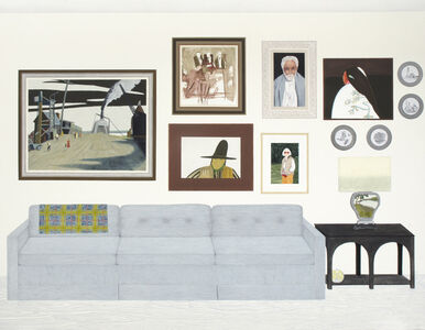 Becky Suss, 'Living Room (six paintings, four plates)', 2015