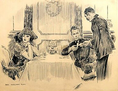 James Montgomery Flagg, 'Dinner Disturbance ', 1921