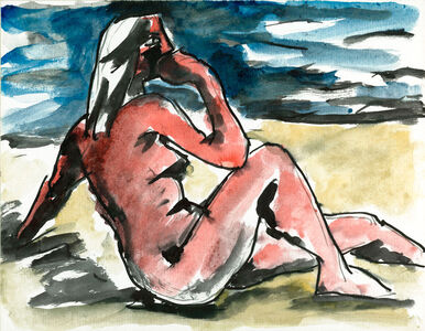 Josef Herman RA, 'Nude Study (On the Beach)', ca. 1950