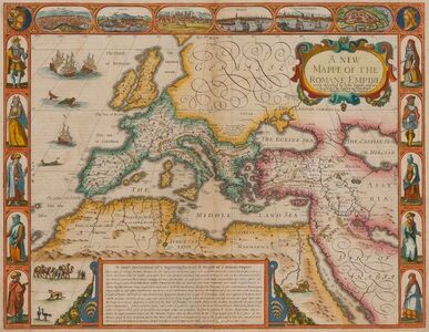 John Speed, 'A New Mappe of the Romane Empire Newly Described', 1676