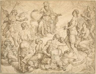 Maerten van Heemskerck, 'Satan Challenges God to Remove his Protection from Job', 1562