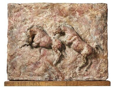John Rattenbury Skeaping, 'Maquette of two rearing horses', c. 1949-50