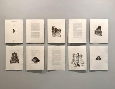 Salvatore Mazza, 'GLŰCKSKINDER Nine etchings of SANDRA VASQUEZ DE LA HORRA, with previously published text by FELICITAS HOPPE', 2016