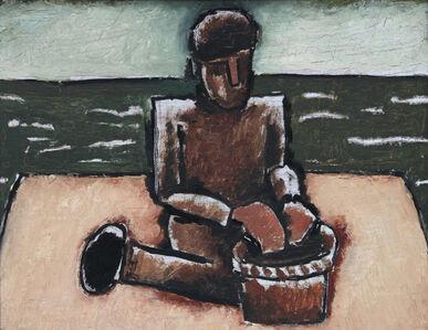 Josef Herman RA, 'Fisherman with Basket', 1980