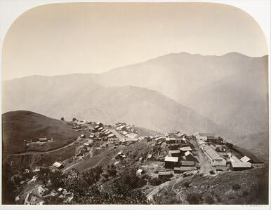 Carleton E. Watkins, 'The Town on the Hill, New Almaden', 1863