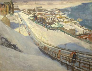 Alson Skinner Clark, 'Toboggan Slide and Dufferin Terrace', 1907