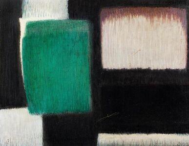 Georg Meistermann, 'Mit dem Schwarz (Mit Schwarz)', 1960