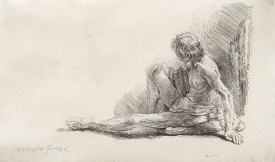 Nude Man Seated on the Ground