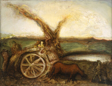 Gregory Gillespie, 'Landscape with Cart ', 1992