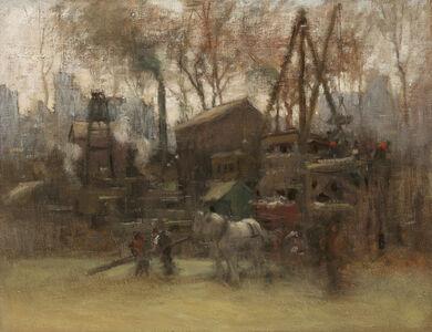 Paul Cornoyer, 'Construction Site, New York', ca. 1910