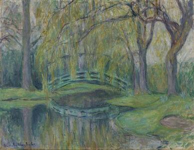 Blanche Hoschedé-Monet, 'Le pont japonais du bassin aux Nymphéas, Giverny', 1865-1947