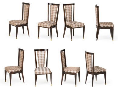 Style of Emile Ruhlmann, 'Style Of Emile Ruhlmann Dining Chairs'