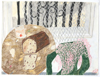 Ann Greene Kelly, 'Still life with Drink and Banana Bread', 2017